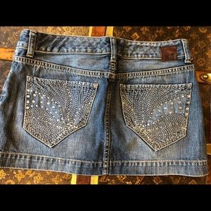 Womens Size 4 Denim Skirt by Express Embellished